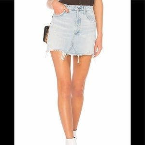 Agolde Skirts - AGOLDE Quinn high waist denim skirt